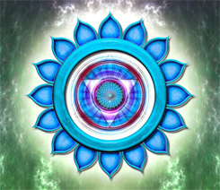 Chakra 5 Throat Blue Symbol